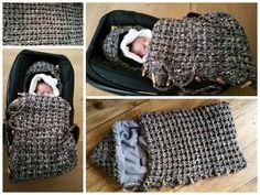 Voor mijn kleinzoon Moos haakte ik deze Trappelzak  in de Wafelsteek voor de  Maxi Cosy   Gehaakt met de  Bella wol van de Wibra (75 % acryl...