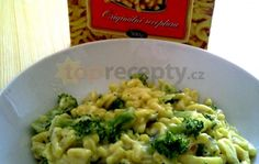 špecle s brokolicí a nivou Vegetable Recipes, Risotto, Meals, Vegetables, Ethnic Recipes, Diet, Meal, Yemek, Veggies