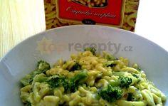 špecle s brokolicí a nivou Vegetable Recipes, Risotto, Meals, Vegetables, Ethnic Recipes, Meal, Yemek, Veggies, Veggies