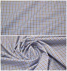 Хлопок линии Canclini арт. 02-003-0925 Ширина: 150 см, плотность: 125г/м2 Состав ткани: 100% хлопок #хлопок#клетка#голубой#коричневый#tutti-tessuti