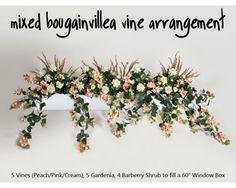 Brighten up your windows around your home. #windowbox, #artificial, #flowers