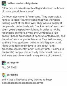 Confederates were Not-Americans.