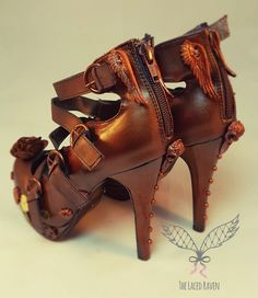 Steampunk bridal heels