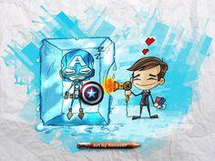 Phil Coulson and Captain America Marvel Avengers, Marvel Comics, Funny Avengers, Phil Coulson, Hero Arts, Marvel Cinematic Universe, Bucky, Loki, Captain America