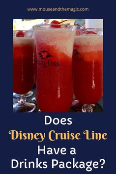 Does Disney Cruise Line have a drinks package? -- one of the most common questions of first time cruisers or of those who are cruising with Disney for the first time. Cruise Destinations, Family Vacation Destinations, Cruise Vacation, Vacation Trips, Family Vacations, Family Travel, Cruise Travel, Disney On A Budget, Disney Cruise Tips