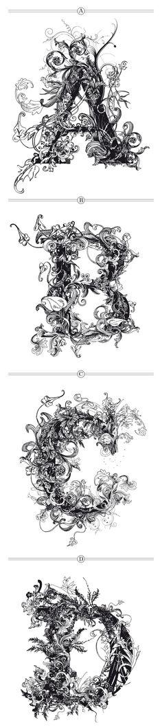 floral fontwork