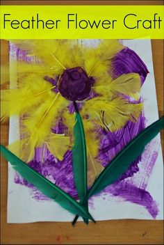 From Sugar Aunts: A quick-to-set-up painting activity that combines creativity and exploration through textures. Supplies: paper, paint, feathers, egg carton and toddler.