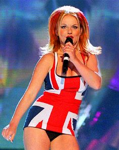 Always have loved the Union Jack dress Geri wore at the Brit awards in 1997.
