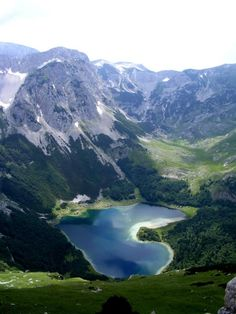 Trnovačko Lake (Trnovačko jezero) is a lake in northern Montenegro, best known for its heart-like shape.