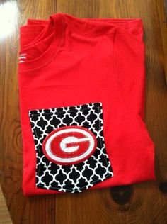 Georgia Bulldogs Monogrammed Tshirts by ElsBriarPatch on Etsy, $18.00
