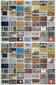 Eames   The complete Computer House of Cards double sheet, 1970