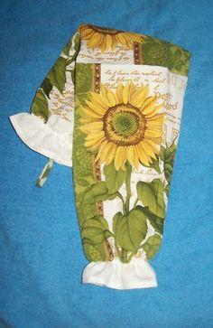 Plastic Grocery Bag Holder - Sunflowers