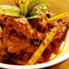 Chicken rendang from Padang