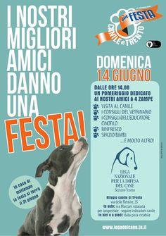 14/6 la #LegadelCane di #Trento organizza Canile in Festa