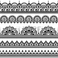 Mehndi, indienne tatouage au henné seamless, des éléments de conception. Banque d'images - 40075234