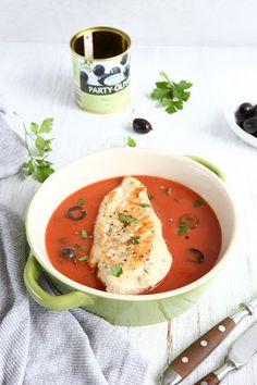 Oven Baked Chicken with Italian Seasoned Tomato Sauce
