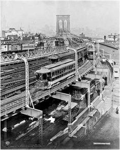 Approach to the #Brooklyn Bridge, 1909
