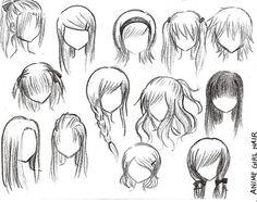 Some ways to draw anime hair