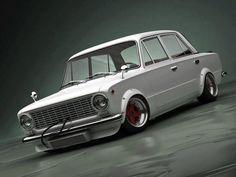 maybe a Fiat. Retro Cars, Vintage Cars, Fiat 128, Old School Cars, Japanese Cars, Modified Cars, Car Car, Hot Cars, Custom Cars