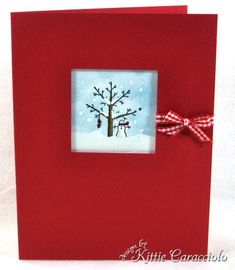 Mini Snow Scene by kittie747 - Cards and Paper Crafts at Splitcoaststampers