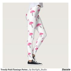 Trendy Pink Flamingo Pattern Fashion Leggings : Beautiful #Yoga Pants - #Exercise Leggings and #Running Tights - Health and Training Inspiration - Clothing for #Fitspiration and #Fitspo - #Fitness and #Gym #Inspo - #Motivational #Workout Clothes - Style AND #comfort can both be possible in one perfect pair of custom #leggings. #Trendy Pink Flamingo Pattern Fashion Leggings was crafted made with care each pair of leggings is printed before being sewn allowing for #fun and #creative designs on…