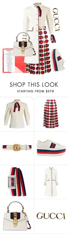 """""""Gucci Dots"""" by catcam13 ❤ liked on Polyvore featuring Gucci"""