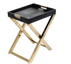 mesa auxiliar tapizada cocodrilo x cm