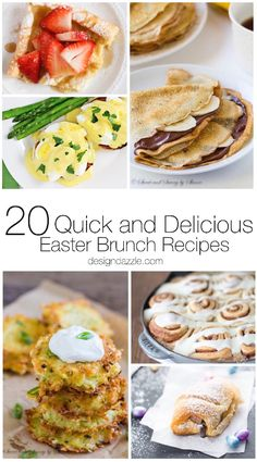 "All 20 of these Easter brunch recipes are ""egg-cellent"", quick, and delicious so you can have a blast with your family on Easter while enjoying great food! 