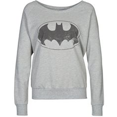 ONLY BATMAN Sweatshirt ($51) ❤ liked on Polyvore featuring tops, hoodies, sweatshirts, sweaters, shirts, batman, women's outerwear and only sweatshirt