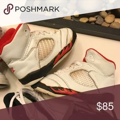 Vintage og Jordan 5 Size 5c Shoes are in good condition for their age . They come with no box . Jordan Shoes Sneakers
