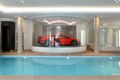 7 bedroom detached house for sale in Bruton Park, Spring Woods, Wentworth Estate, Virginia Water, Surrey - Rightmove. New Homes For Sale, Property For Sale, Basement Pool, Mega Mansions, Indoor Swimming Pools, Dream Pools, Pool Houses, Surrey, Detached House