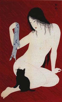 Venus with a Cat Hiroaki Takahashi. C. 1930