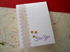 Chevron simple card
