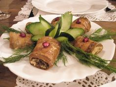 Eggplant Rolls with Walnut-Garlic Paste and Their Transcendent Echoes