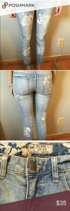Super stretch skinnys Worn once for a few hours only Free People Pants Skinny