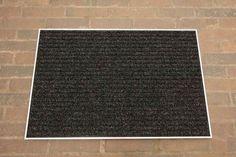 Fußmatte aus Rauhaar-Rips mit Alu- oder Messingrahmen zum bodenbündigen Einbau