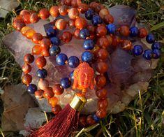 We are so excited to share the latest addition to my #etsy shop: Root Chakra Mala - Red Jasper, Lapis Lazuli and Carnelian mala - 108 mala beads - prayer beads - yoga  http://etsy.me/2AZI7sl #jewelry #necklace #unisexadults #stone #mala #tasselnecklace #prayerbead #red