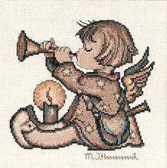 M.I. Hummel - Angel With Horn - Cross Stitch Kit