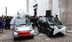 5 carros de noivos diferentes. #casamento #transporte #carrodosnoivos #Smart