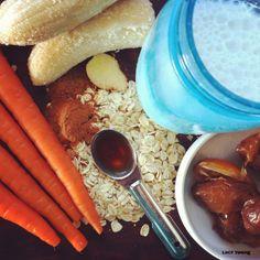 carrot cake smoothie ingredients