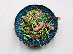 Steak Salad with Asparagus #QBlog #Recipe #HealthyEating #SummerSaladSeries