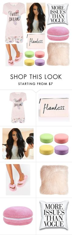 """The Sleepover..."" by brenna-rivers ❤ liked on Polyvore featuring Chelsea Peers, Bedroom Athletics and Pillow Decor"