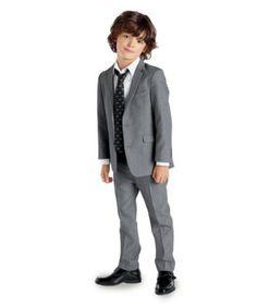 boys slate gray suit