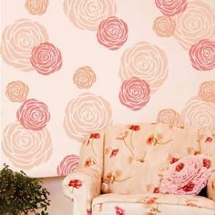 The Rose Wall Art stencil from Cutting Edge Stencils. http://www.cuttingedgestencils.com/rose-stencil-flower-wall-art-stencils-floral-design.html