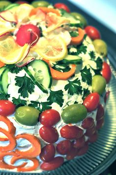 This Little Blog of Mine....: Smörgåstårta aka Swedish Sandwich Cake