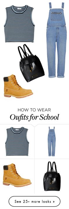 """""""high school"""" by divaqueenforlife on Polyvore featuring Whistles, A.L.C., Timberland and Marc by Marc Jacobs"""