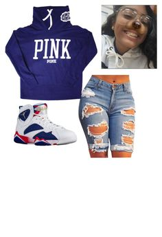 """""""~pink~"""" by qveenmm on Polyvore featuring Victoria's Secret"""