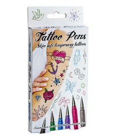 Another great find on #zulily! Temporary Tattoo Pens by Paladone #zulilyfinds