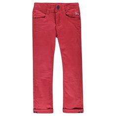 Pantalon coupe slim uni effet crinkle  Main