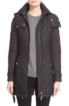 Free shipping and returns on Burberry Bellbridge Technical Quilted Parka at Nordstrom.com. Princess seams and a wide, trapunto-stitched belt streamline and define the fit of a diamond-quilted parka equipped with a toggle-drawstring hood and a drop-tail hem for extended weather protection. Gleaming hardware, belted cuffs and check-patterned lining at the collar polish the style.